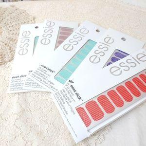 5 Essie Sleek Stick Pre-UV Cured Nail Appliques